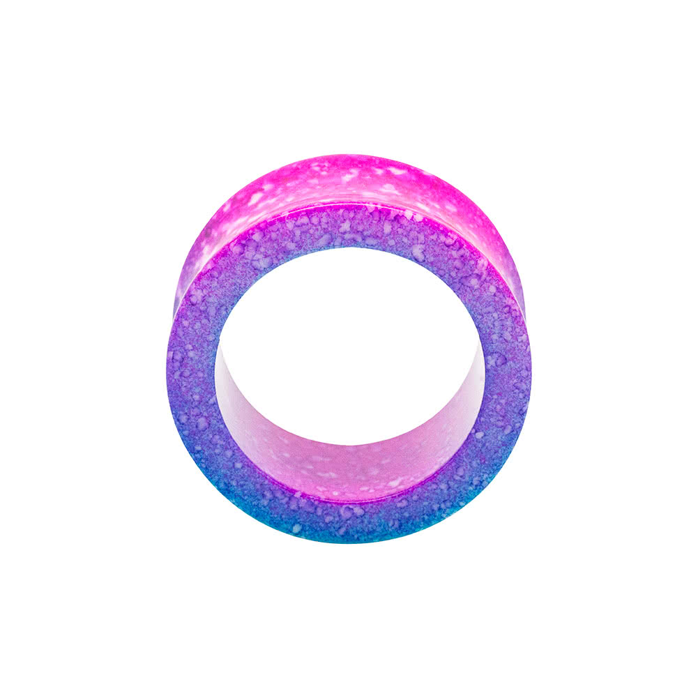 Blue Banana Acrylic Marble Flesh Tunnel 6-26mm (Pink)