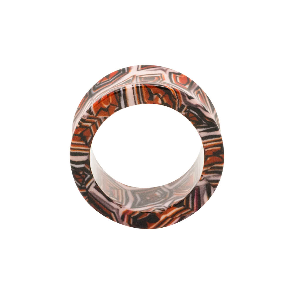 Blue Banana Acrylic Marble Flesh Tunnel 6-26mm (Brown)
