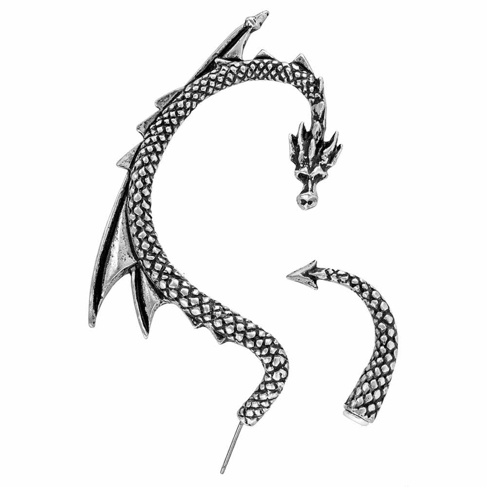 Alchemy Dragons Lure Right Earring (Silver)