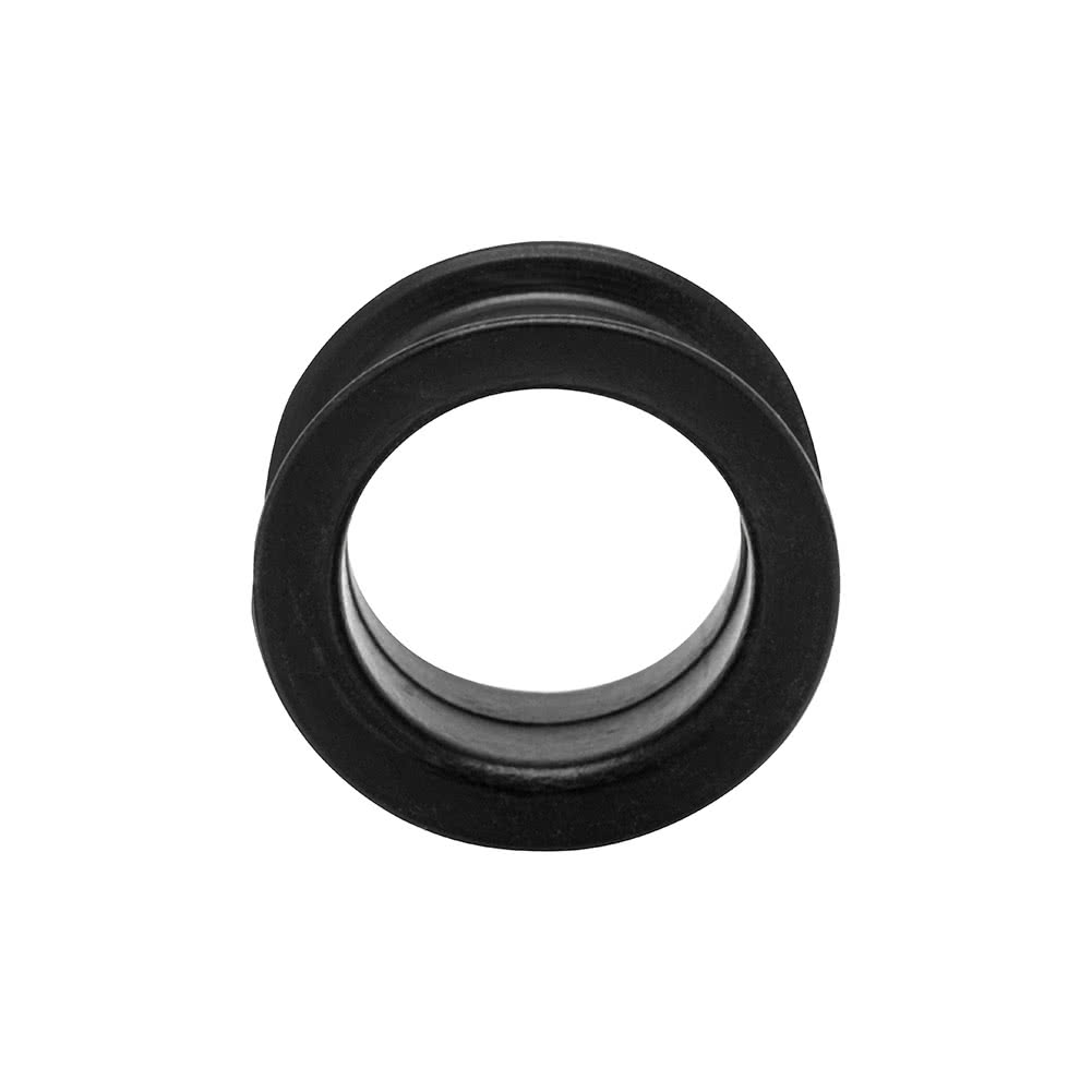 Blue Banana Silicone Eyelet Flesh Tunnel 4-50mm (Black)