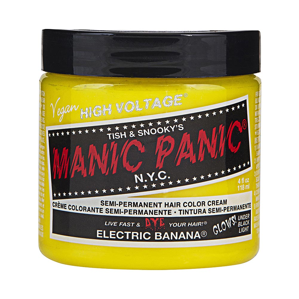 Manic Panic High Voltage Classic Cream Formula Colour Hair Dye 118ml (Electric Banana)