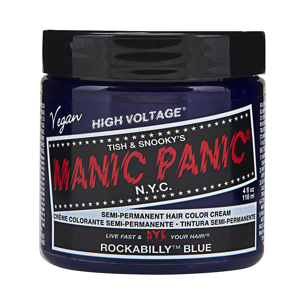 Tinte capilar fórmula clásica en crema de Manic Panic High Voltage (Rockabilly Blue - azul rockabilly)