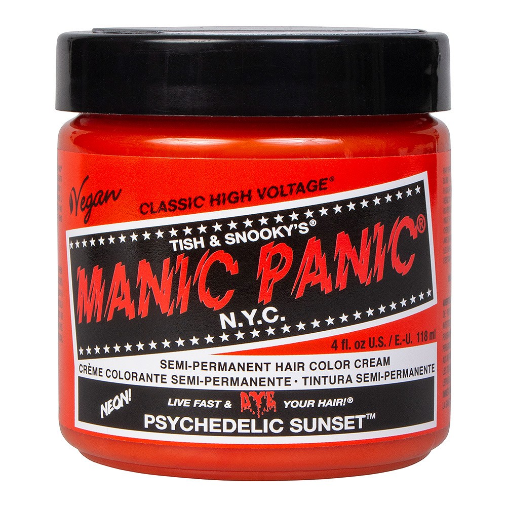 Manic Panic High Voltage Classic Cream Formula Colour Hair Dye 118ml (Psychedelic Sunset)
