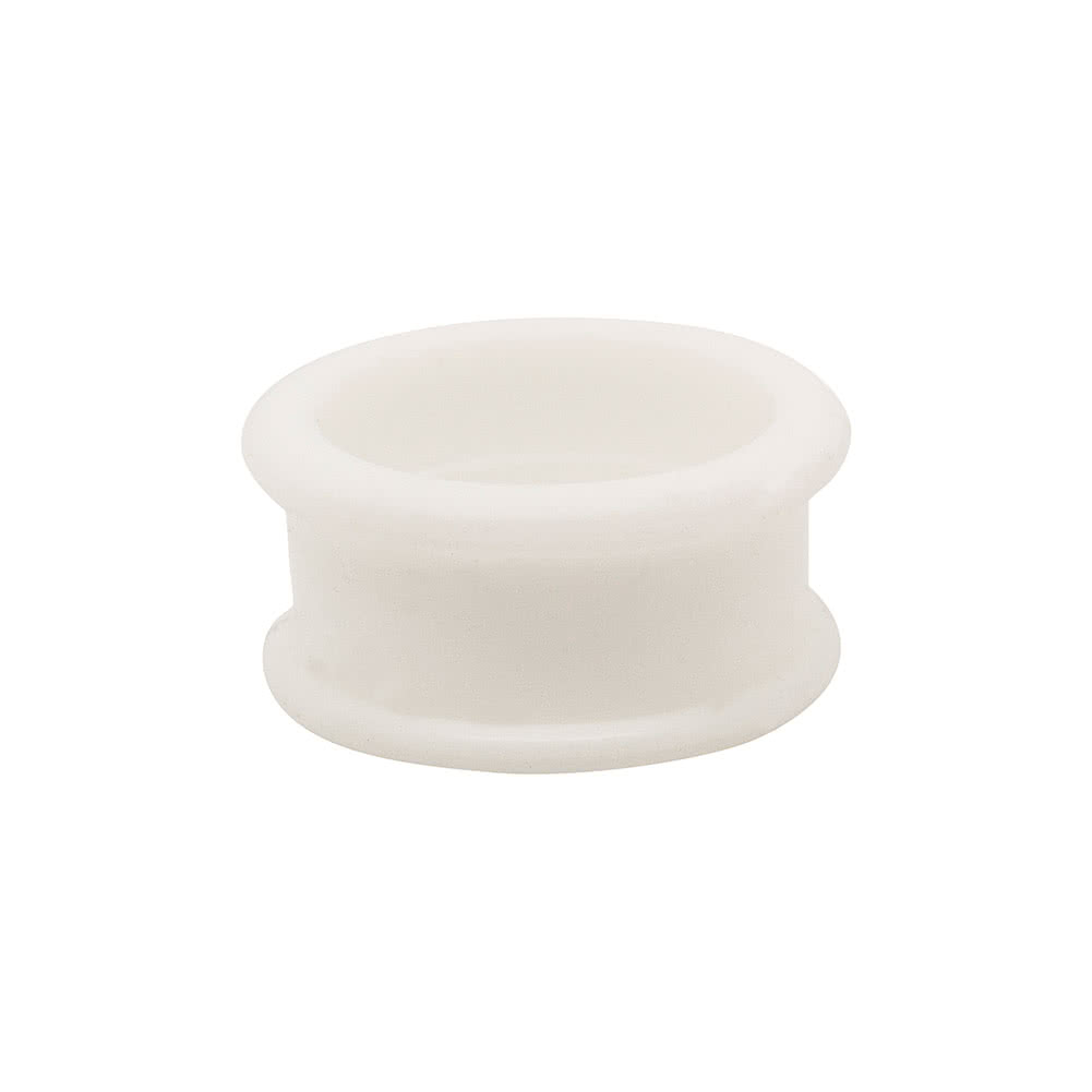 Blue Banana Silicone Flesh Tunnel 3-22mm (White)