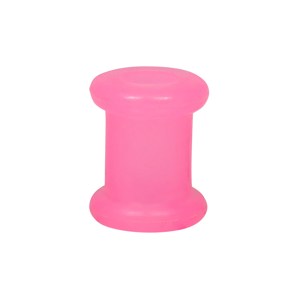 Blue Banana Silicone Flesh Tunnel 3-22mm (Pink)