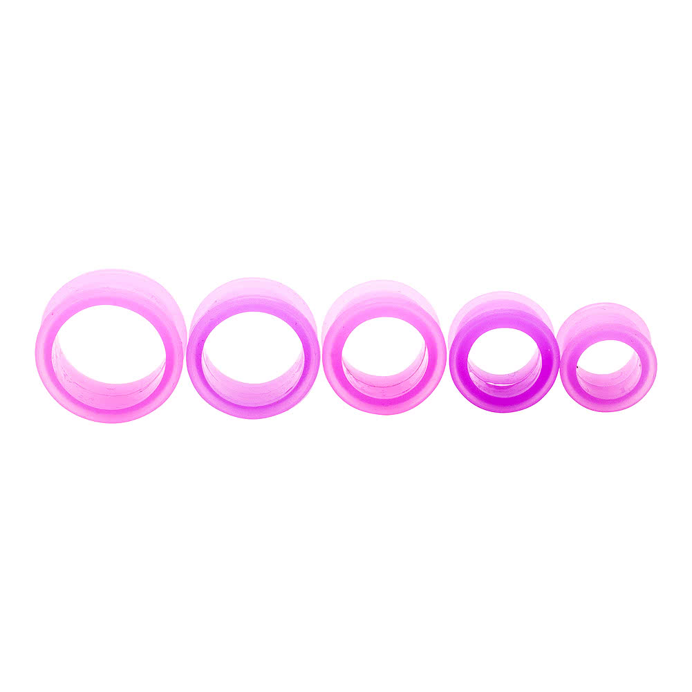 Blue Banana Silicone Flesh Tunnel 3-22mm (Purple)