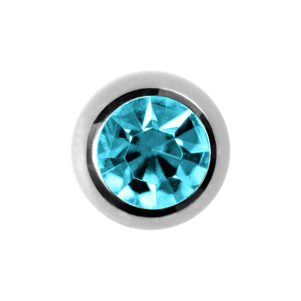 Blue Banana Steel 3mm Jewelled Ball (Aqua)