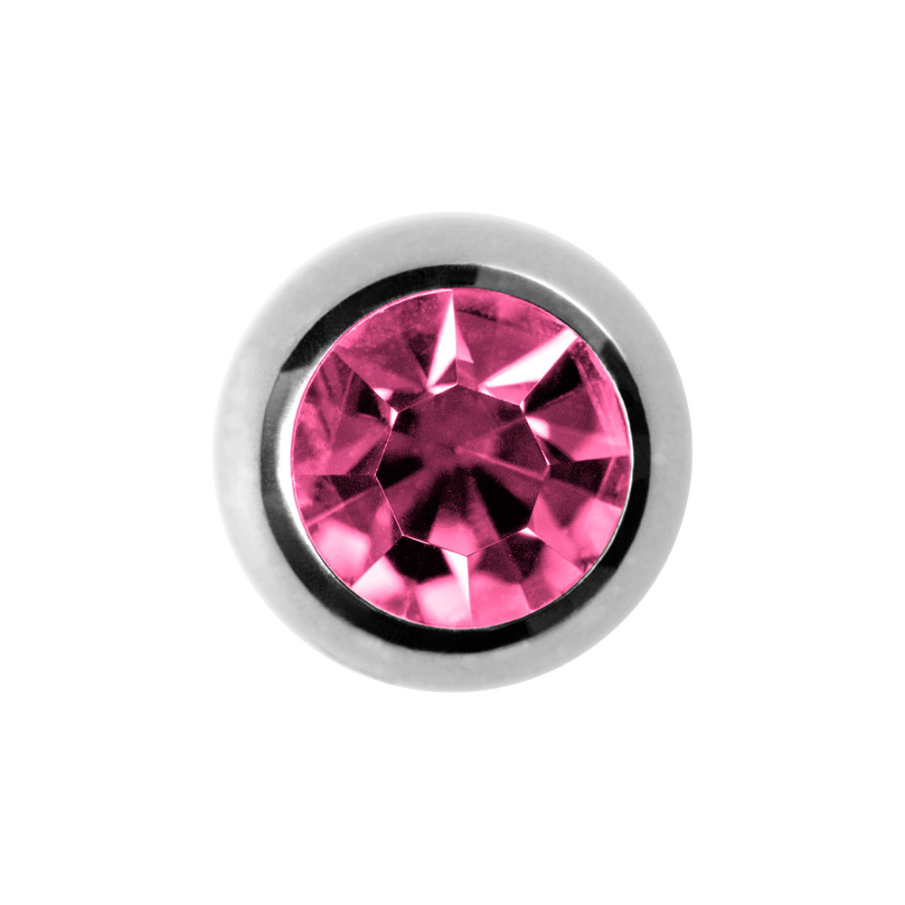 Blue Banana Surgical Steel 3mm Jewelled Ball (Rose)