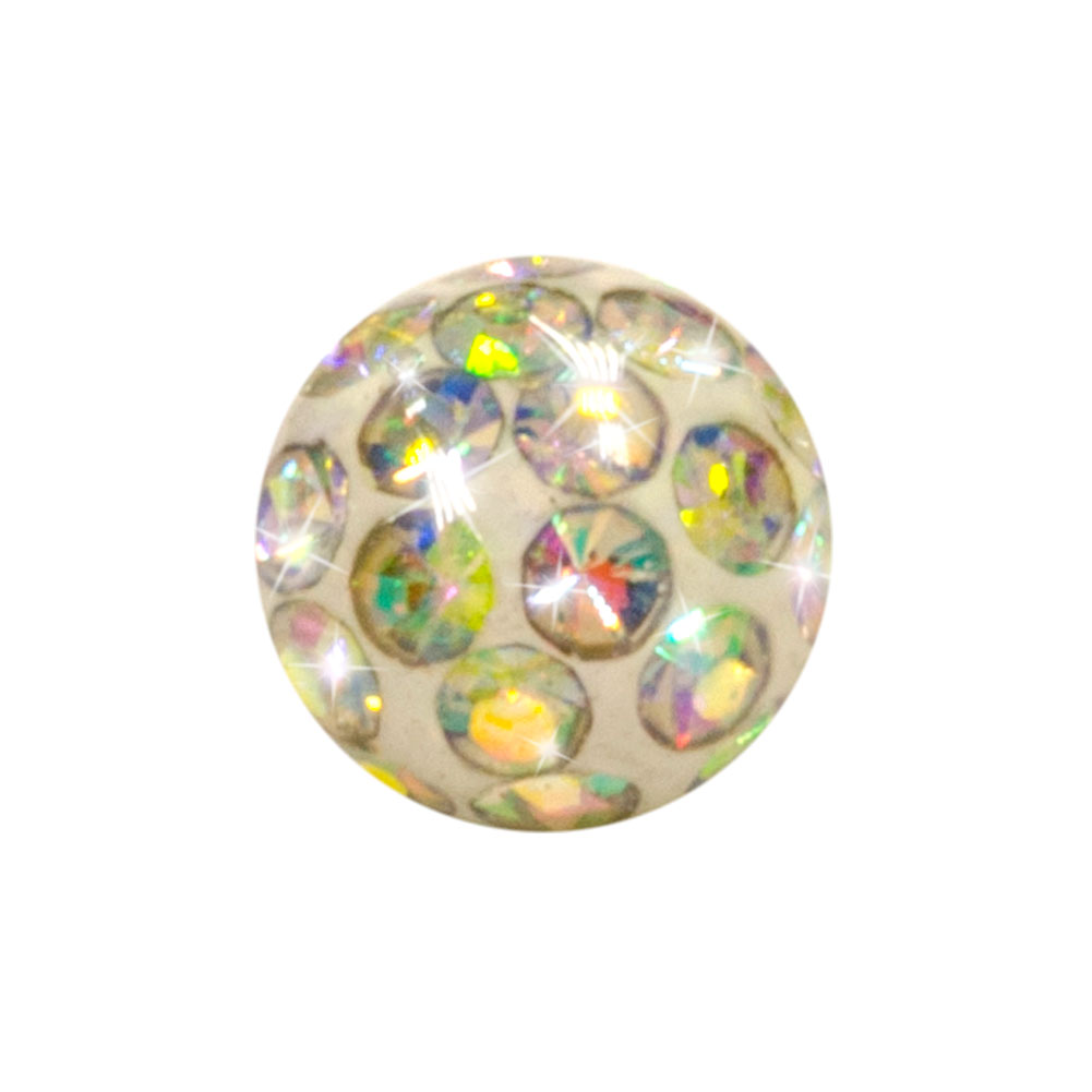 Blue Banana Surgical Steel 5mm Jewelled Glitter Ball (Aurora Borealis)