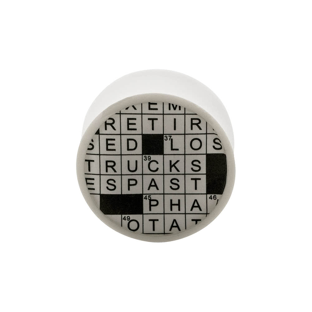 Blue Banana Acrylic Crossword Plug 4-22mm (White)