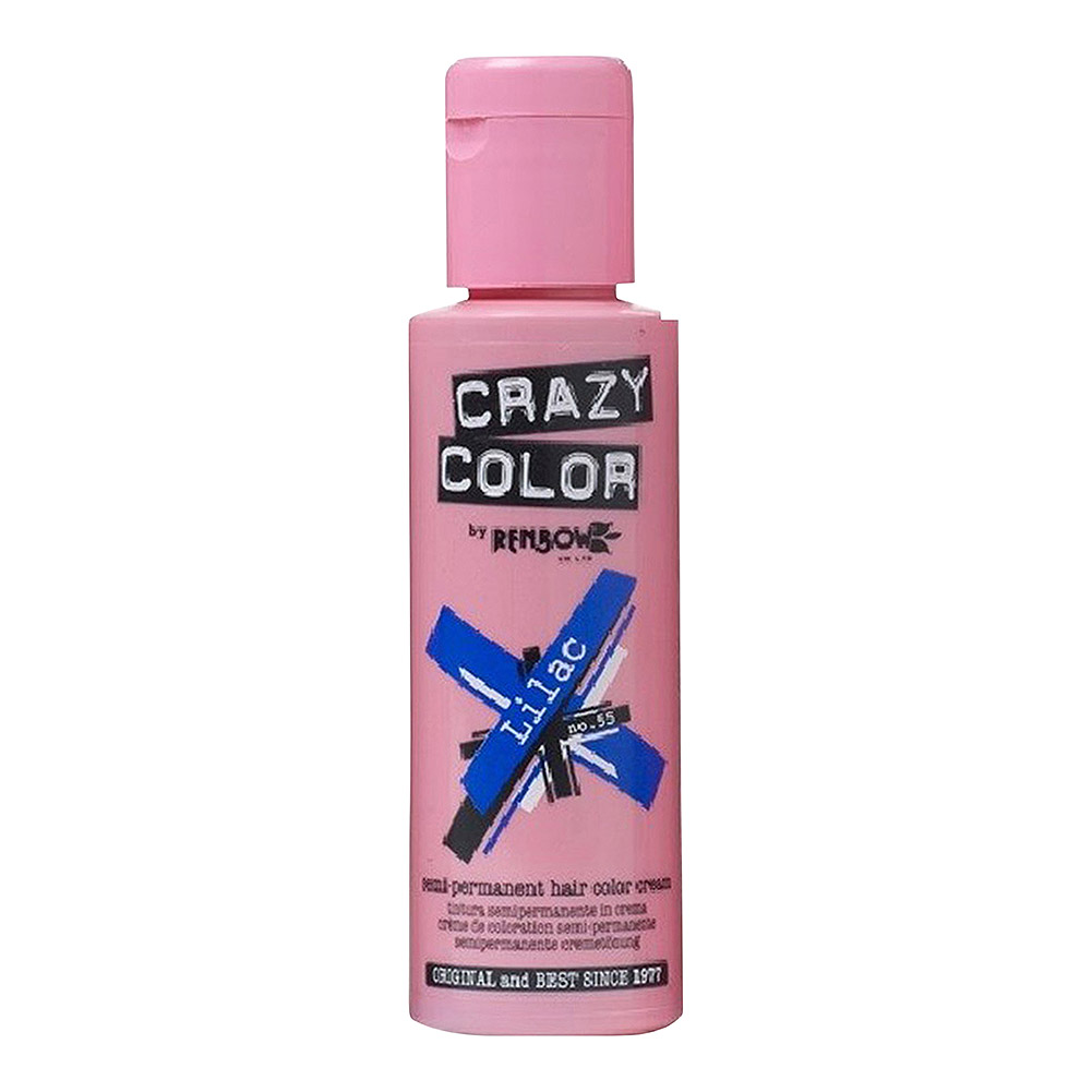 Tintura Per Capelli Semi-Permanente 100ml Crazy Color (Lilla - Viola)