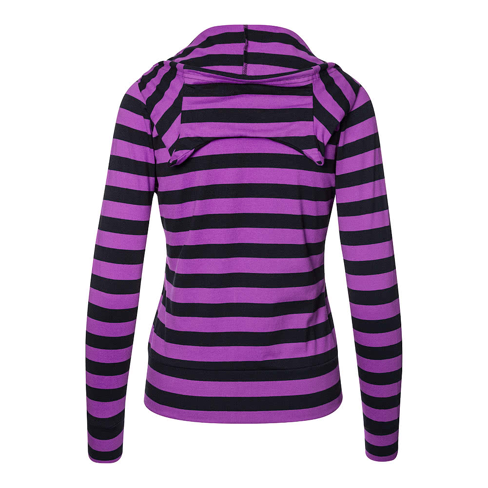 Banned Striped Hoodie (Purple/Black)