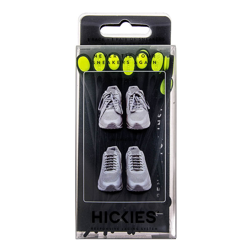 Hickies Laces (Black/Yellow)