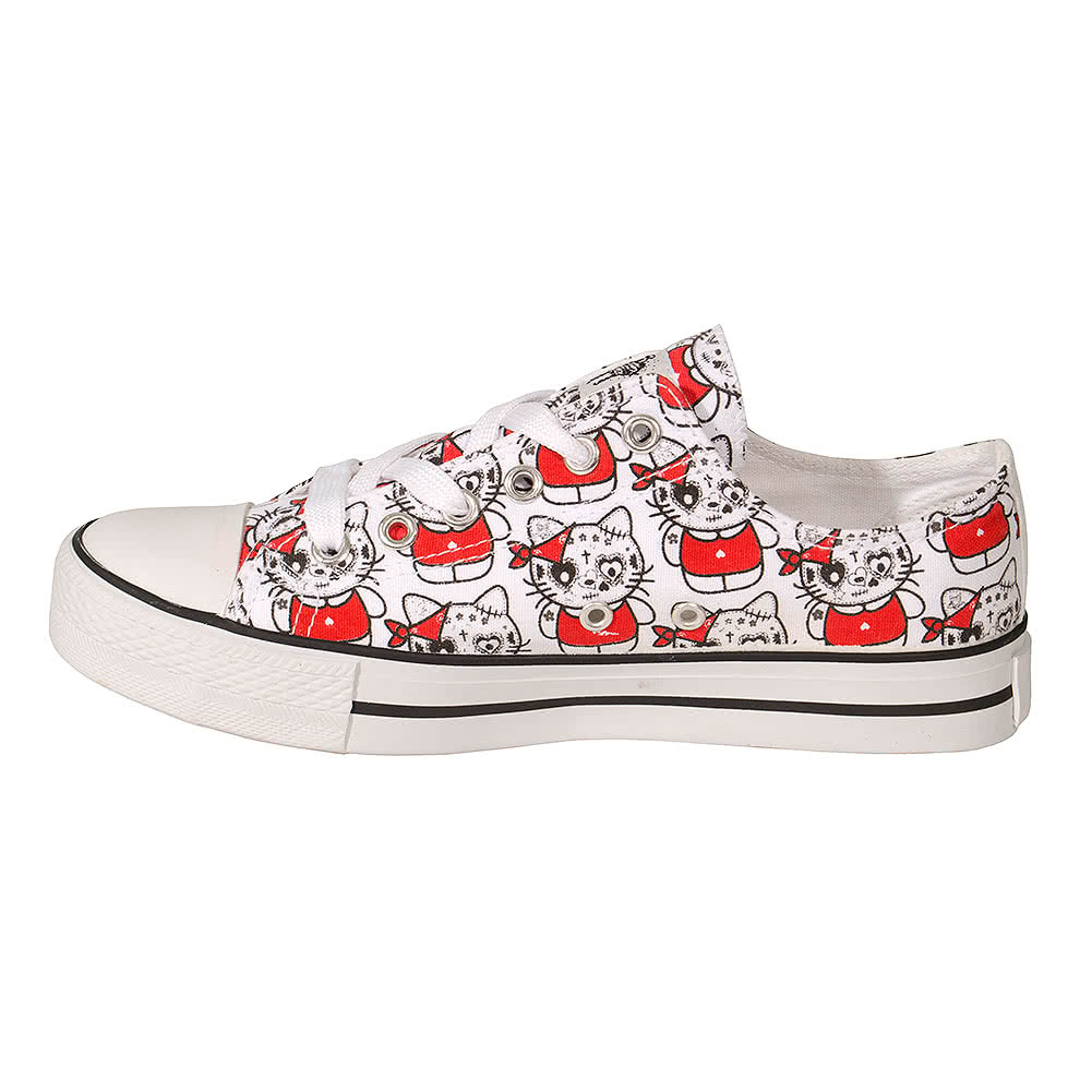 Bleeding Heart Kat Canvas Shoes (White)