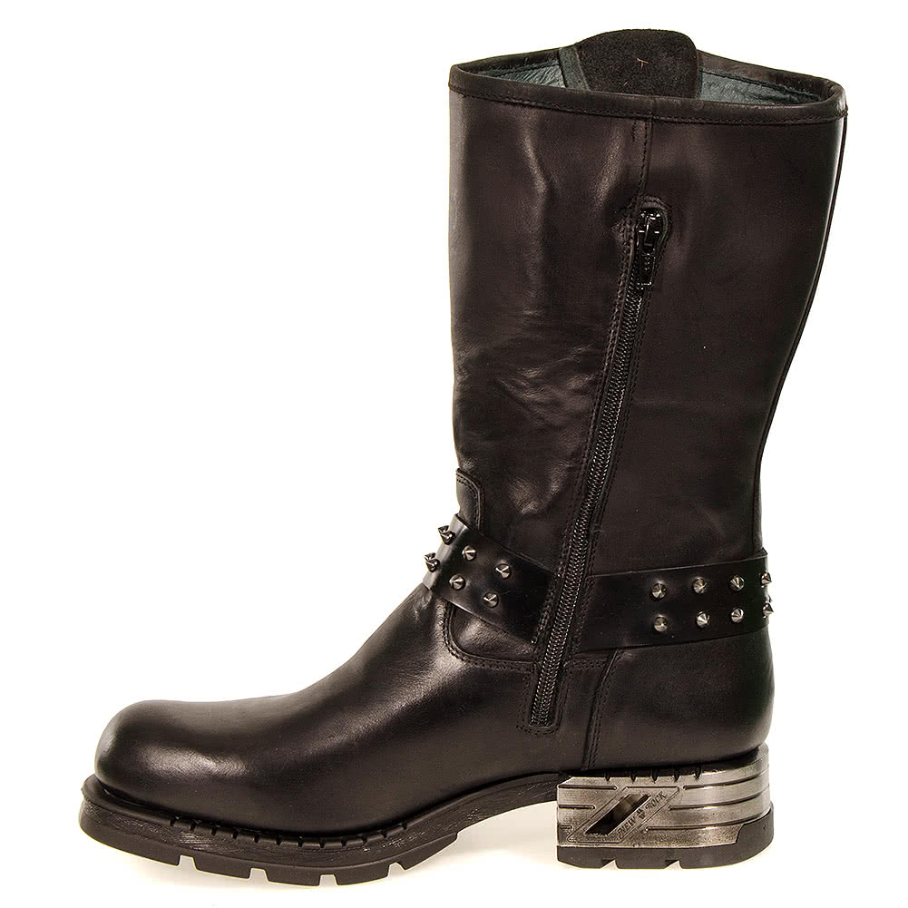 New Rock Style M.MR030-S1 Motorock Boots (Black)