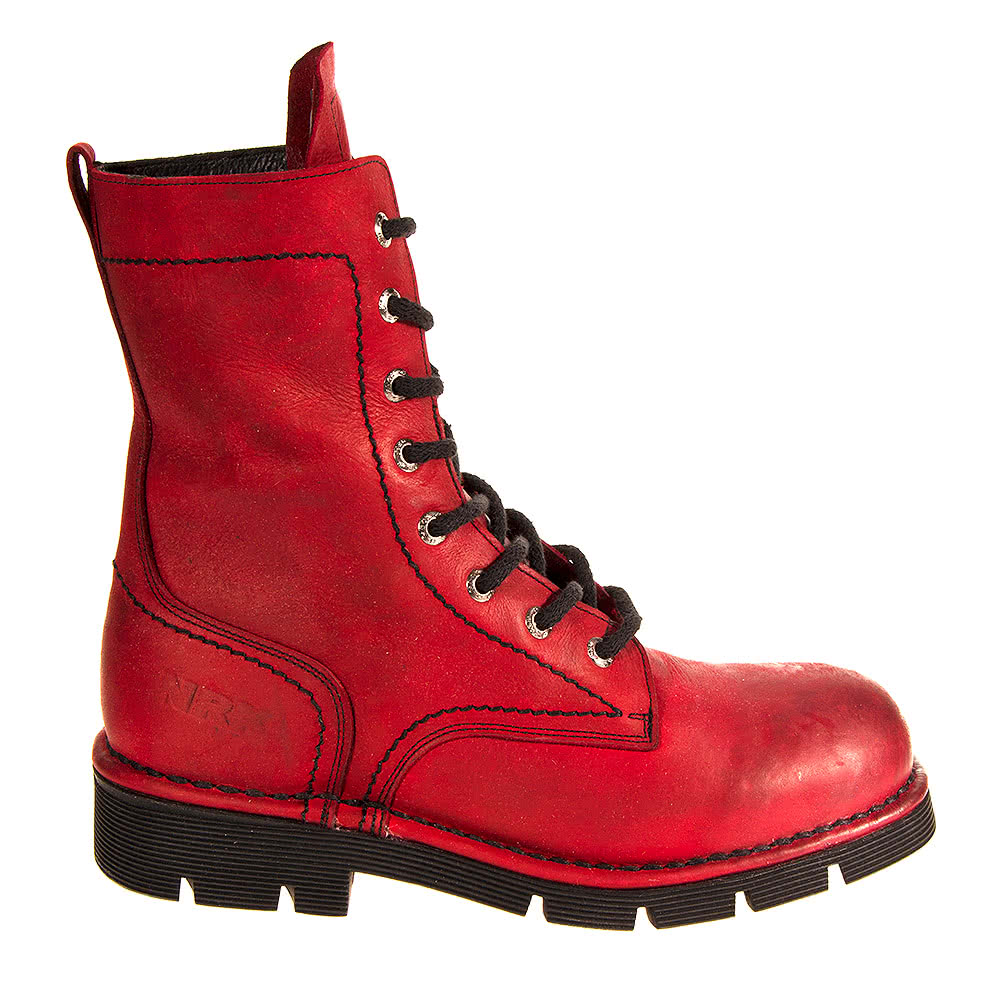 New Rock M.1423-C8 Comfort Light Half Boots (Red)