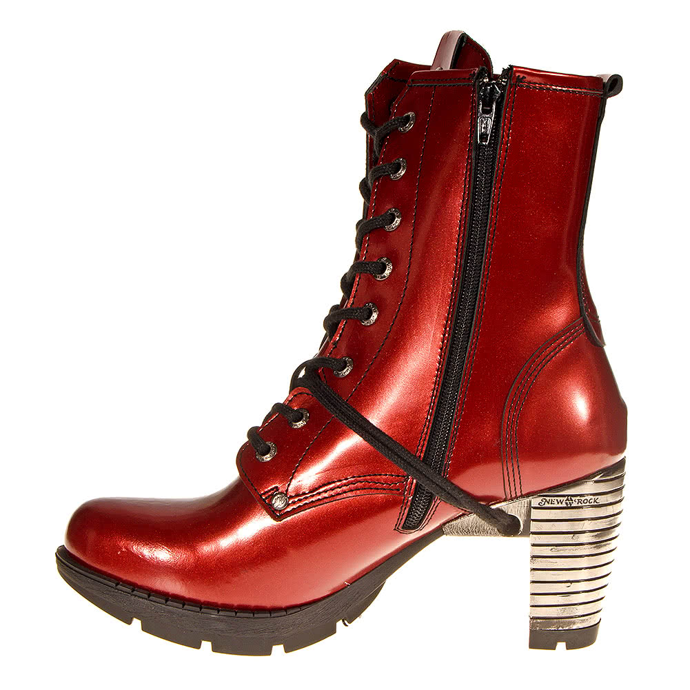 New Rock M.TR001-C30 Trail Heeled Boots (Red)