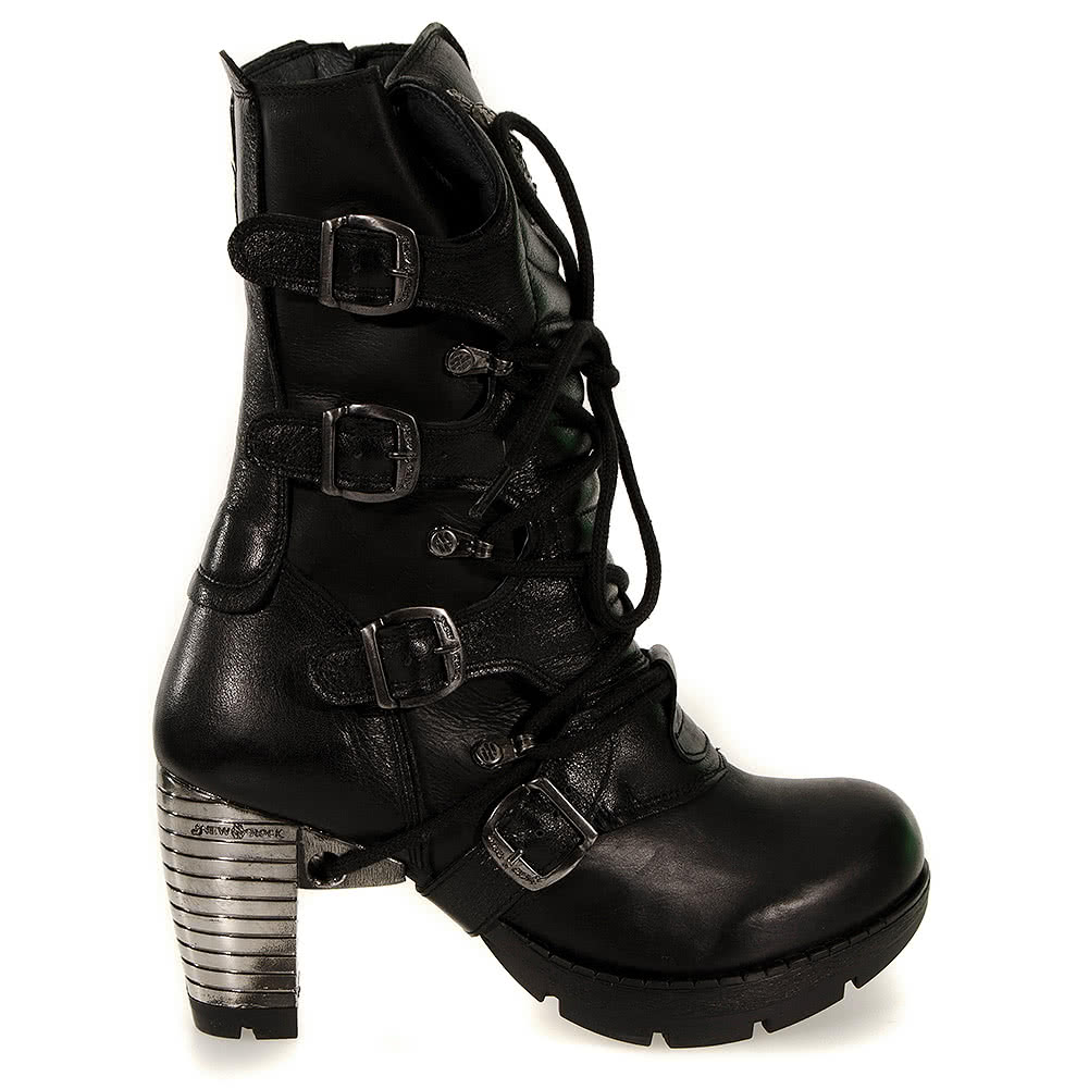 New Rock M.TR003-S1 Trail Heeled Boots (Black)