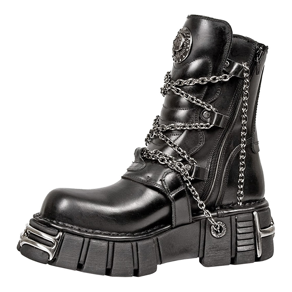 New Rock Style M.1011-S1 Boots (Black)