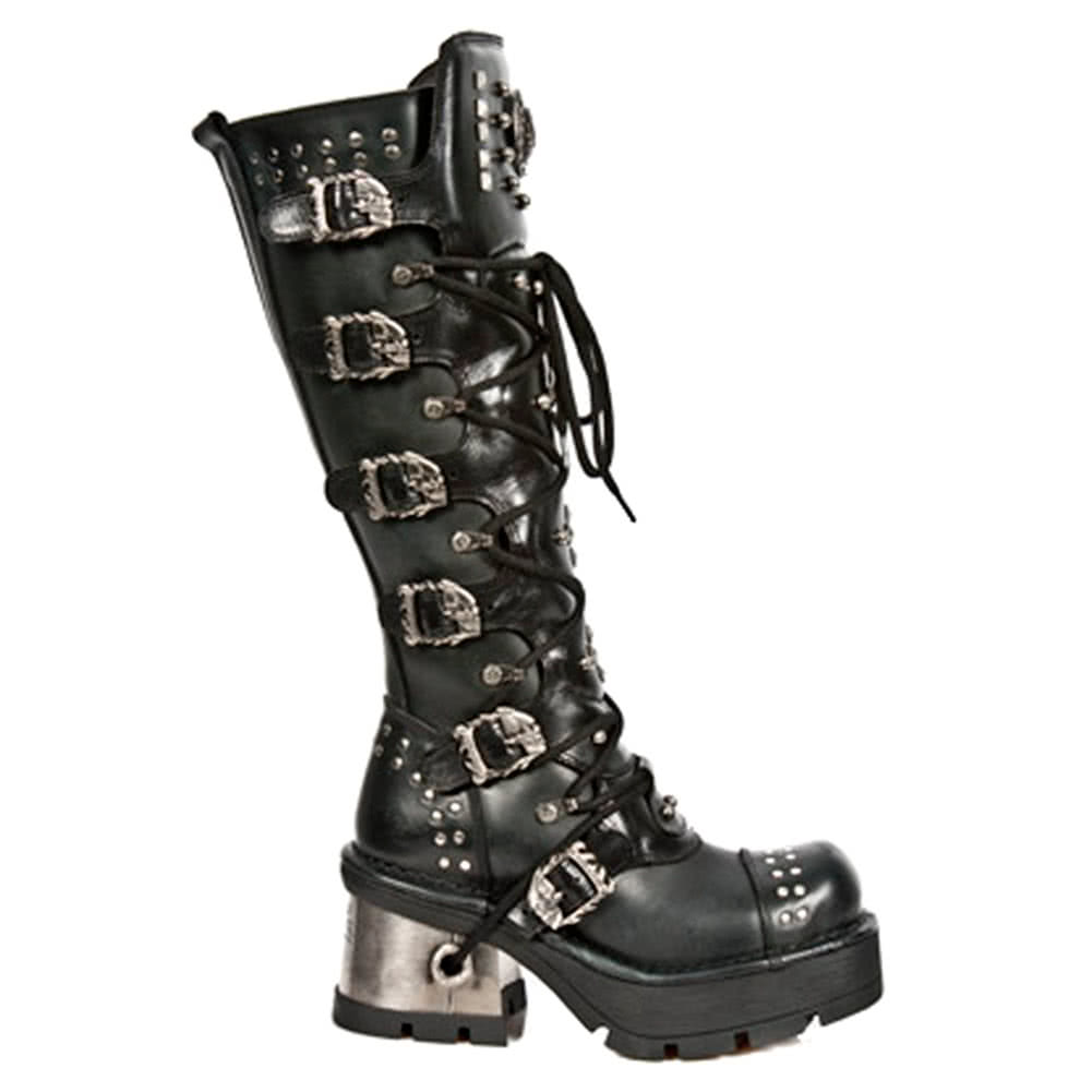 New Rock M.1030-S1 M8 High Boots (Black)