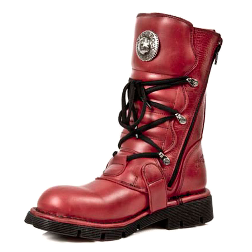 New Rock M.1473-S12 Comfort-Light Half Boots (Red)