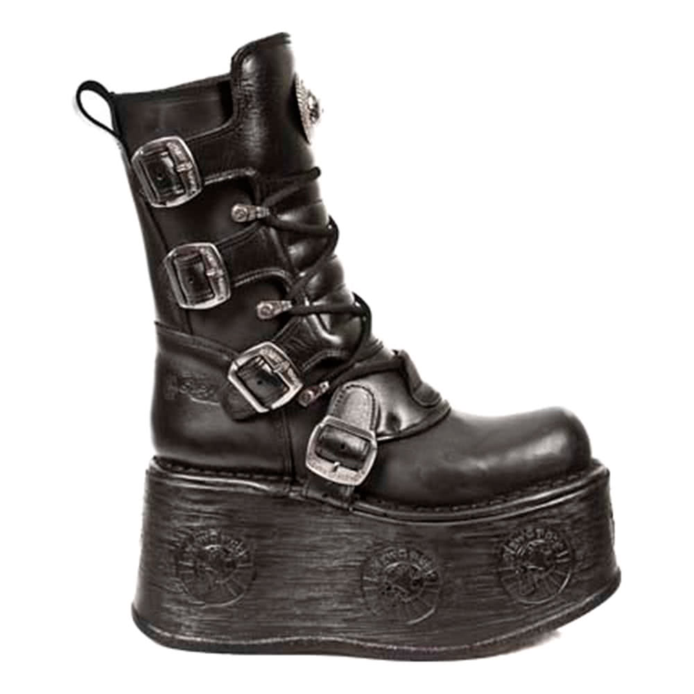 New Rock M.1473-S3 Space Platform Boots (Black)