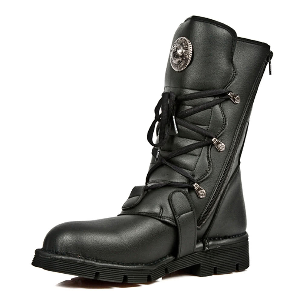 New Rock M.1473-V1 Comfort-Light Vegan Boots (Black)
