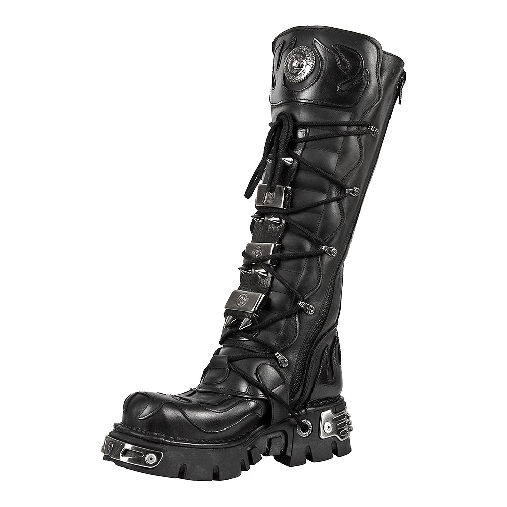 New Rock M.161-S1 Reactor Demon Flame High Boots (Black)