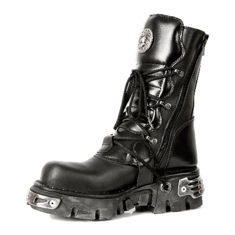 New Rock M.391-S1 Reactor Stiefel (Schwarz)