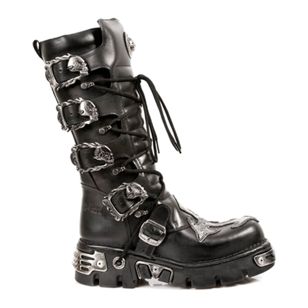 New Rock M.403-S1 Cross Reactor Wadenstiefel (Schwarz)