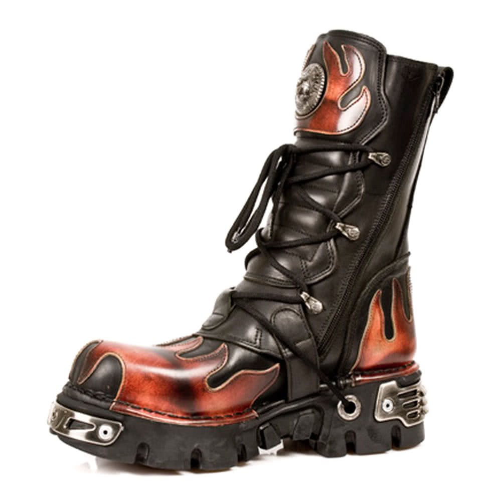 New Rock M.591-S1 Reactor Flame Stiefel (Schwarz/Orange)