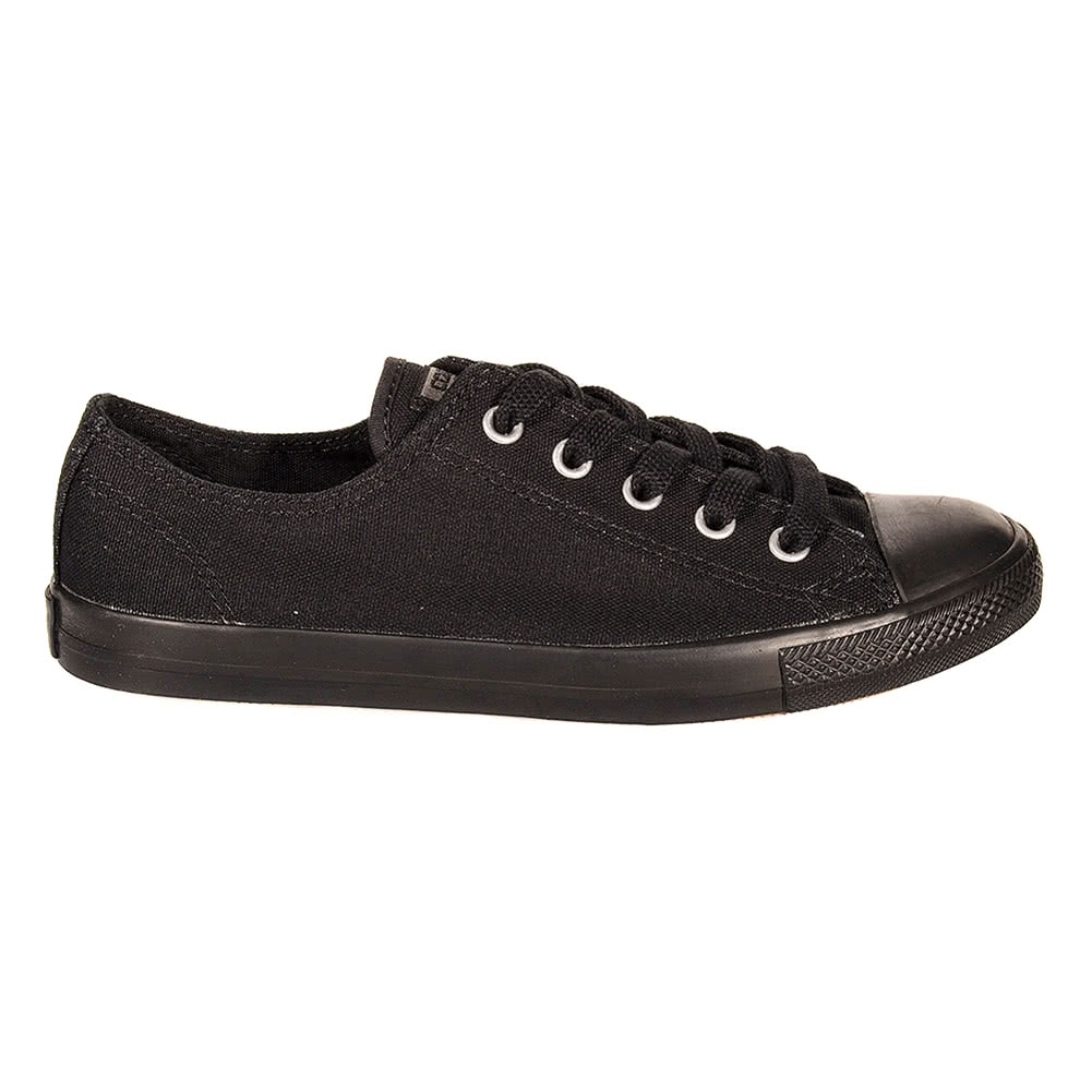 Converse All Star Ladies Dainty Mono Black Canvas Trainers