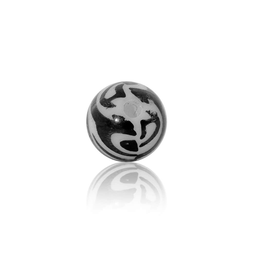 Blue Banana Acrylic 5mm Zebra Ball (Black/White)