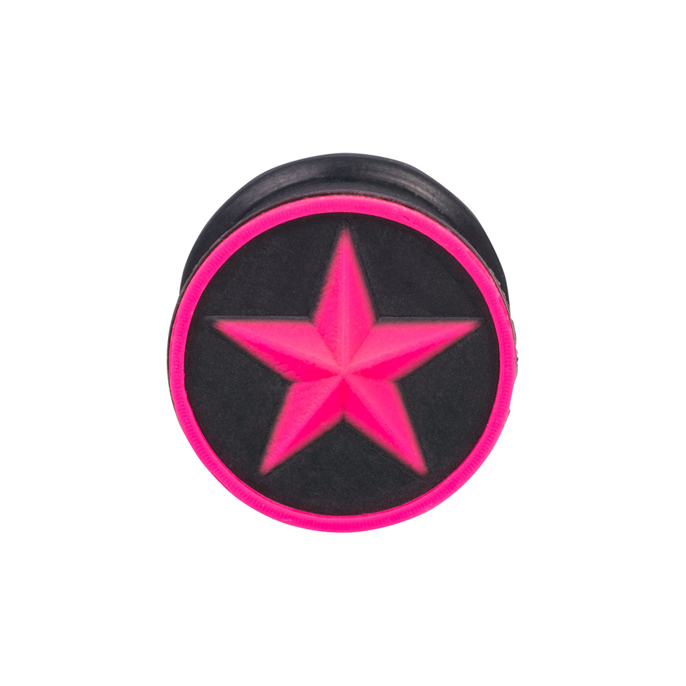 Blue Banana Silicone Star Plug 6-20mm (Black/Pink)
