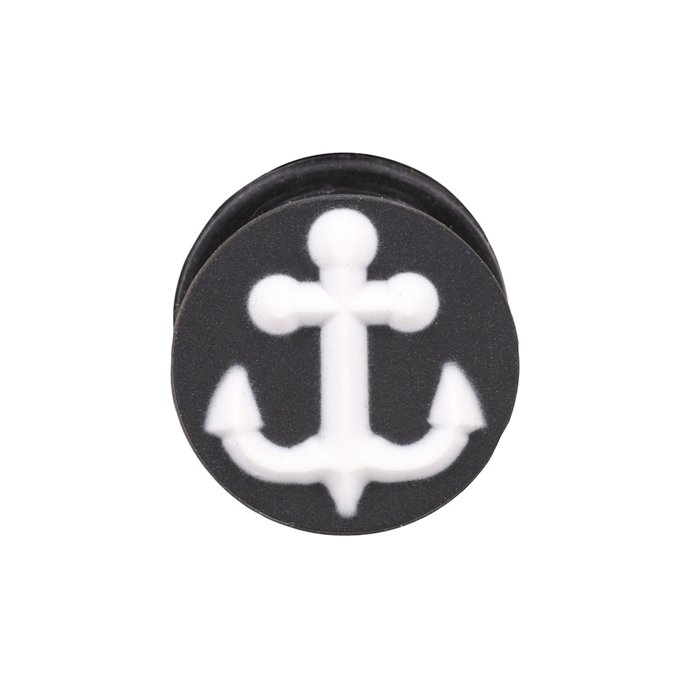 Blue Banana Silicone Anchor Plug 6-20mm (Black/White)
