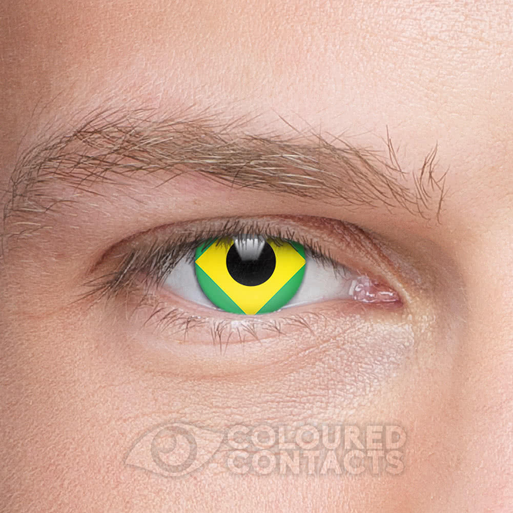 Novelty Flag 90 Day Coloured Contact Lenses (Brazil)