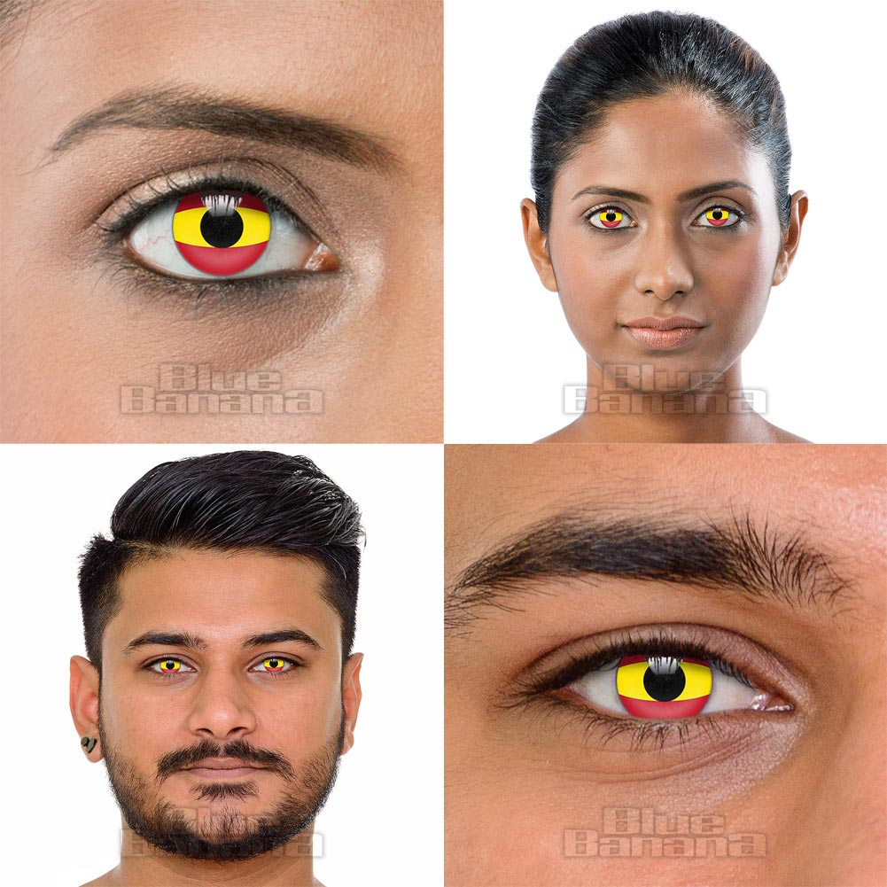 Novelty Flag 90 Day Coloured Contact Lenses (Spain)
