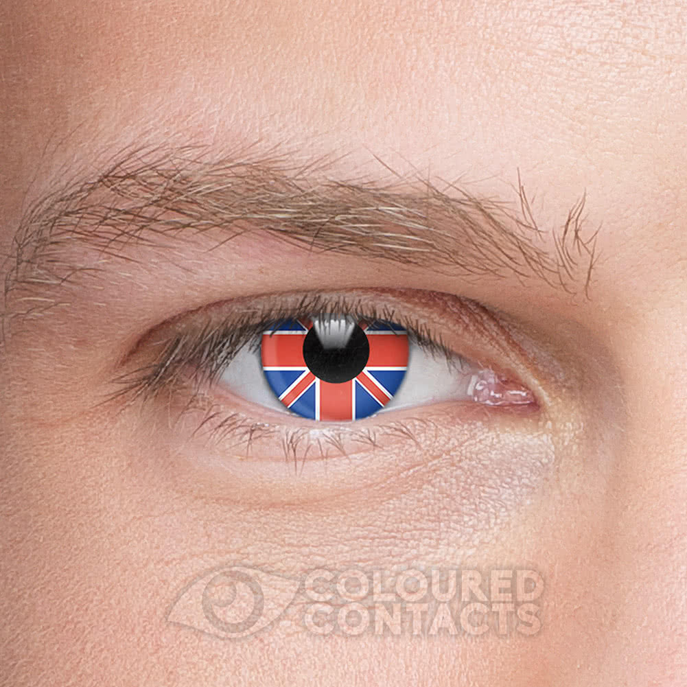 Novelty Flag 90 Day Coloured Contact Lenses (United Kingdom)