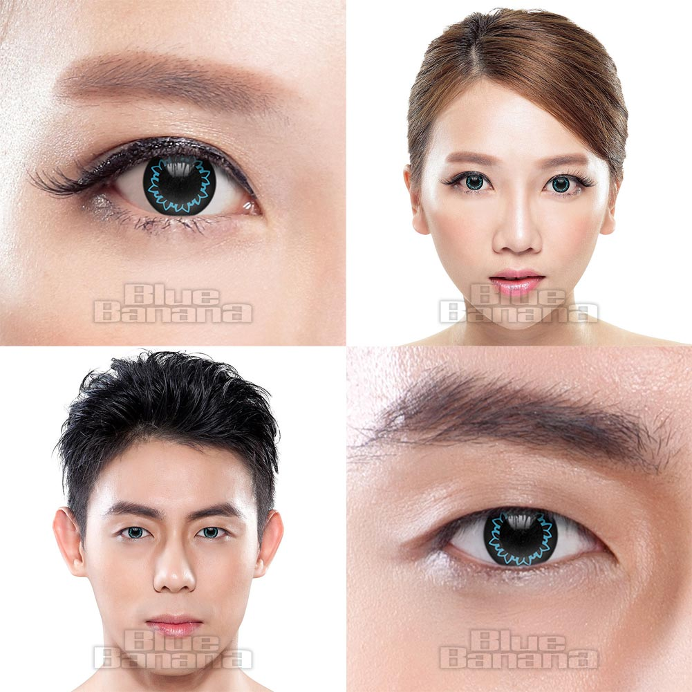 Butterfly 90 Day Coloured Contact Lenses (Aqua Blue)