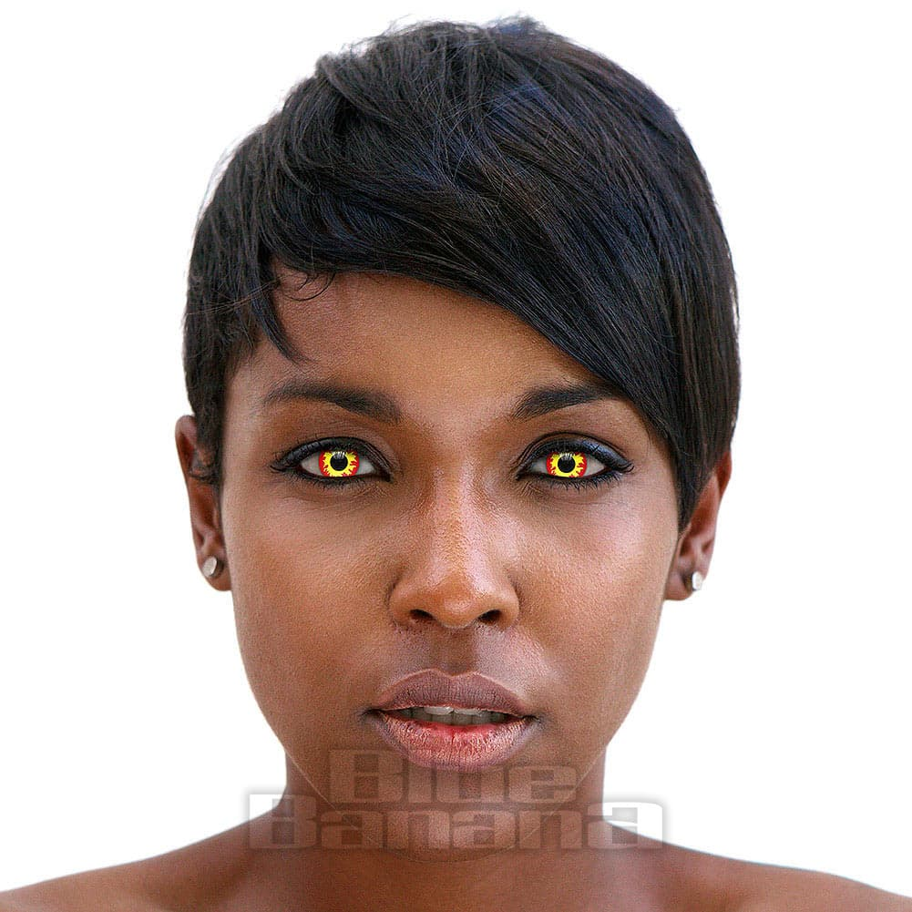 Flame Eyes 90 Day Coloured Contact Lenses (Red/Yellow)