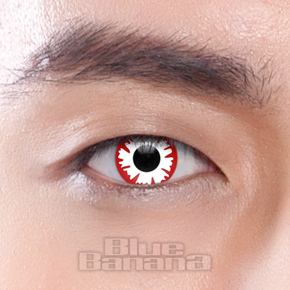 Demon 90 Day Coloured Contact Lenses (Red/White)