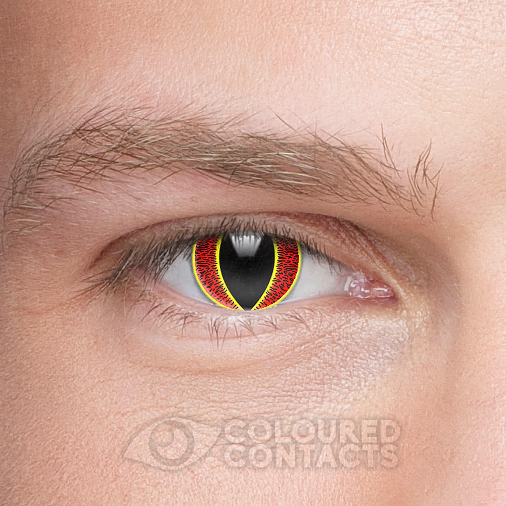 Eye of Sauron 90 Day Coloured Contact Lenses (Red/Yellow)