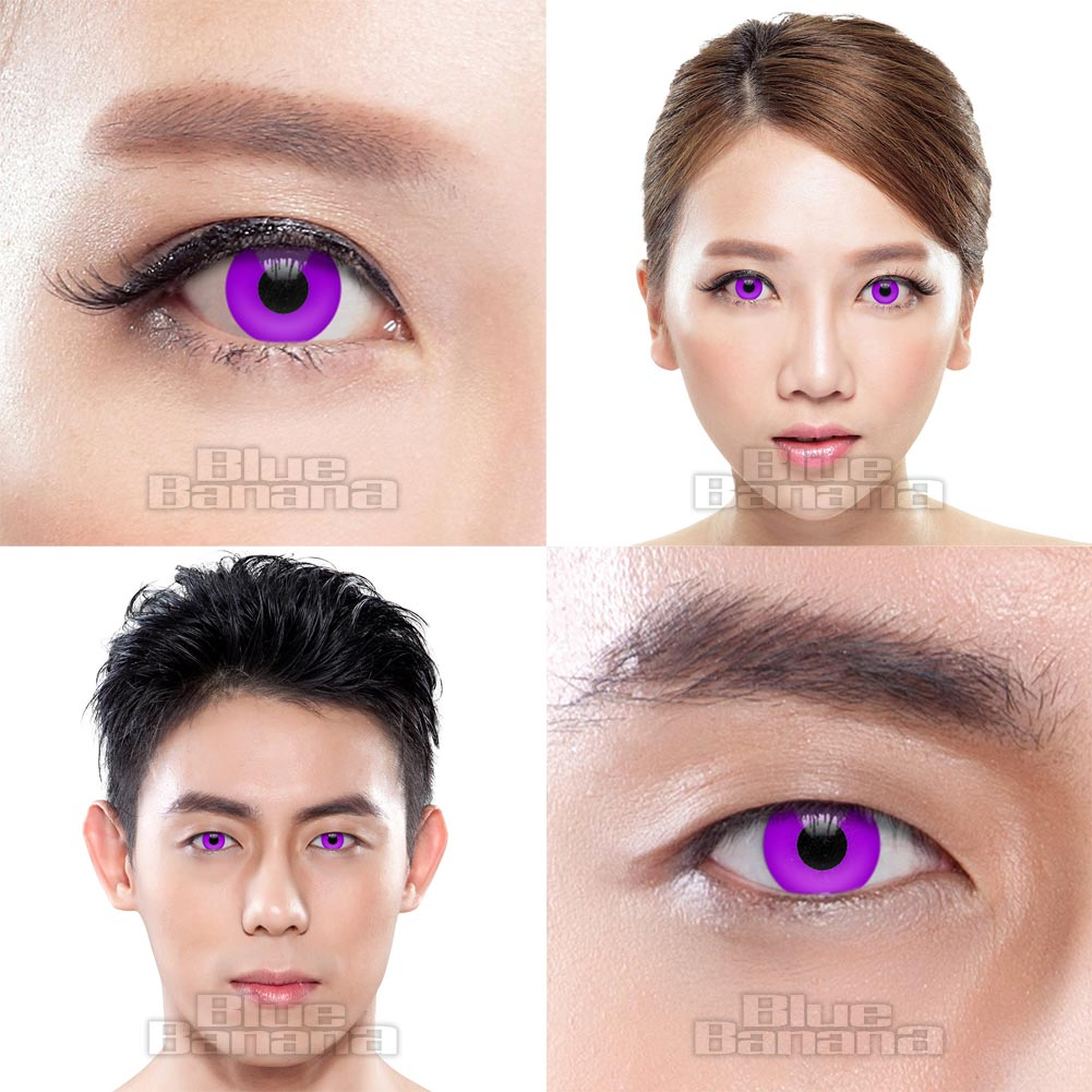 UV I-Glow 90 Day Coloured Contact Lenses (Violet)