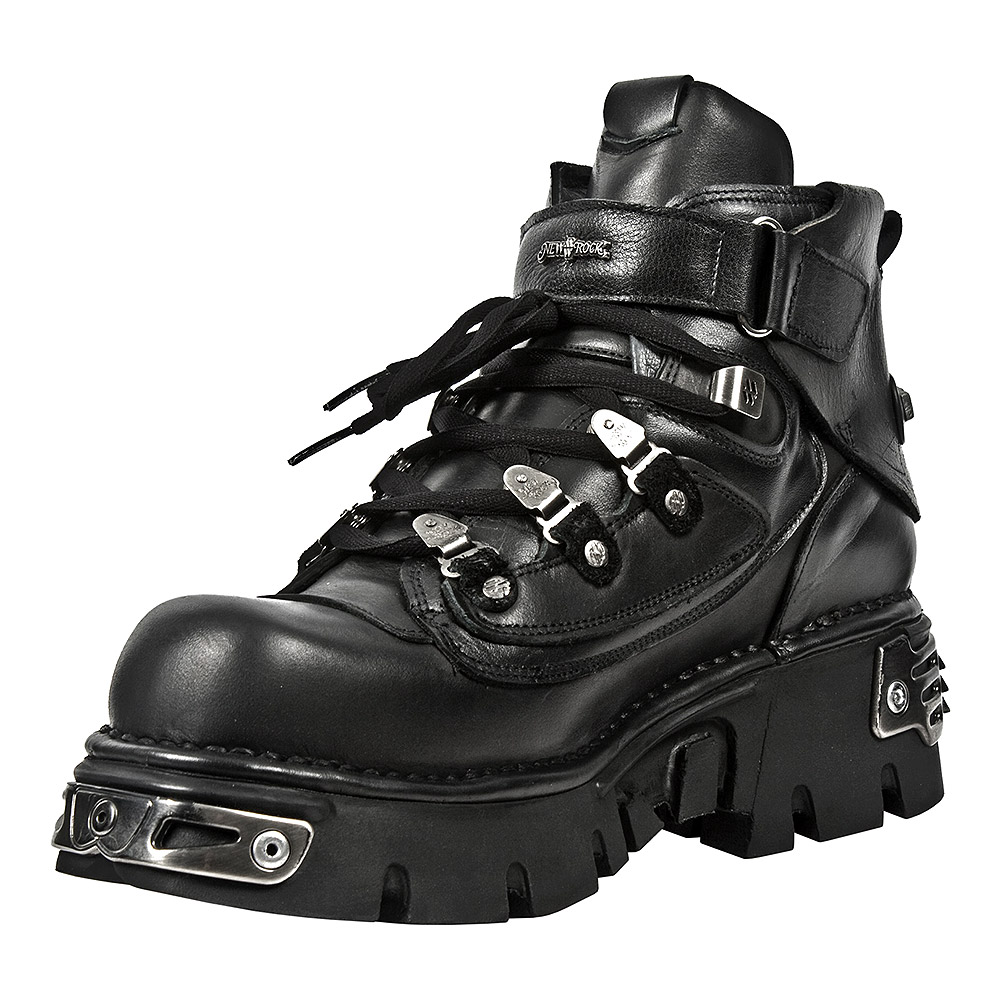 New Rock M.654-S1 Reactor Ankle Boots (Black)