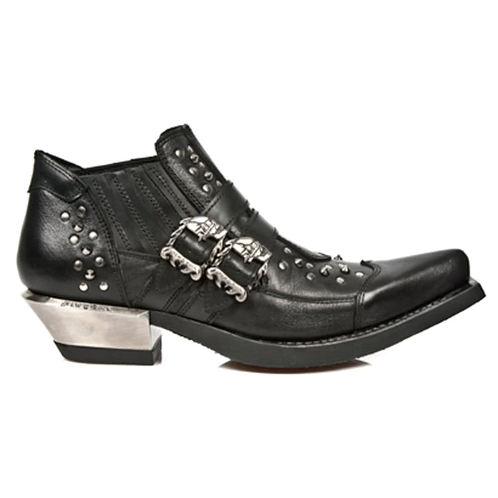 New Rock M.7956-S1 West Shoes (Black)