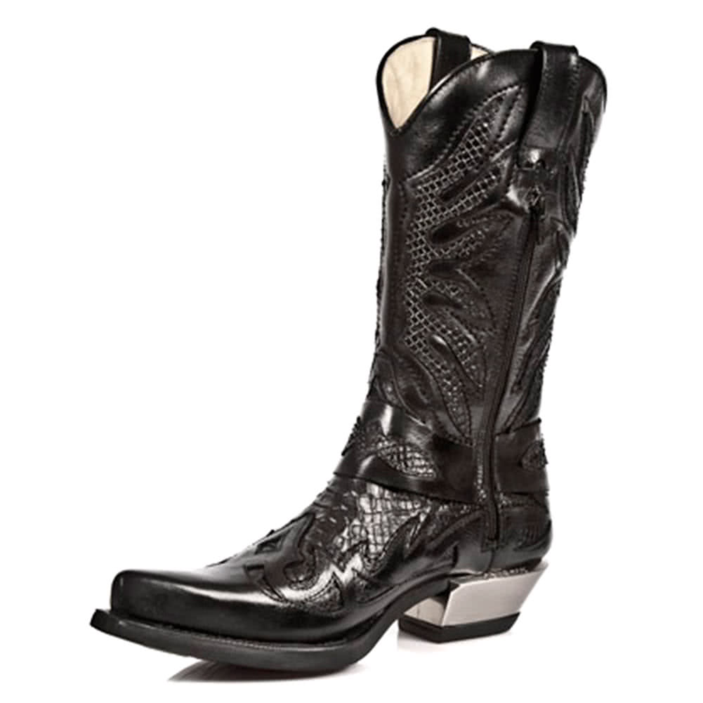 New Rock M.7991-S2 Flame West Boots (Black)