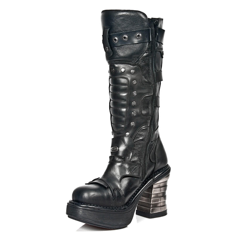 New Rock M.8353-S1 Platforma Boots (Black)