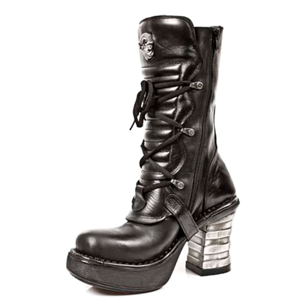 New Rock M.8373-S1 Platforma Boots (Black)