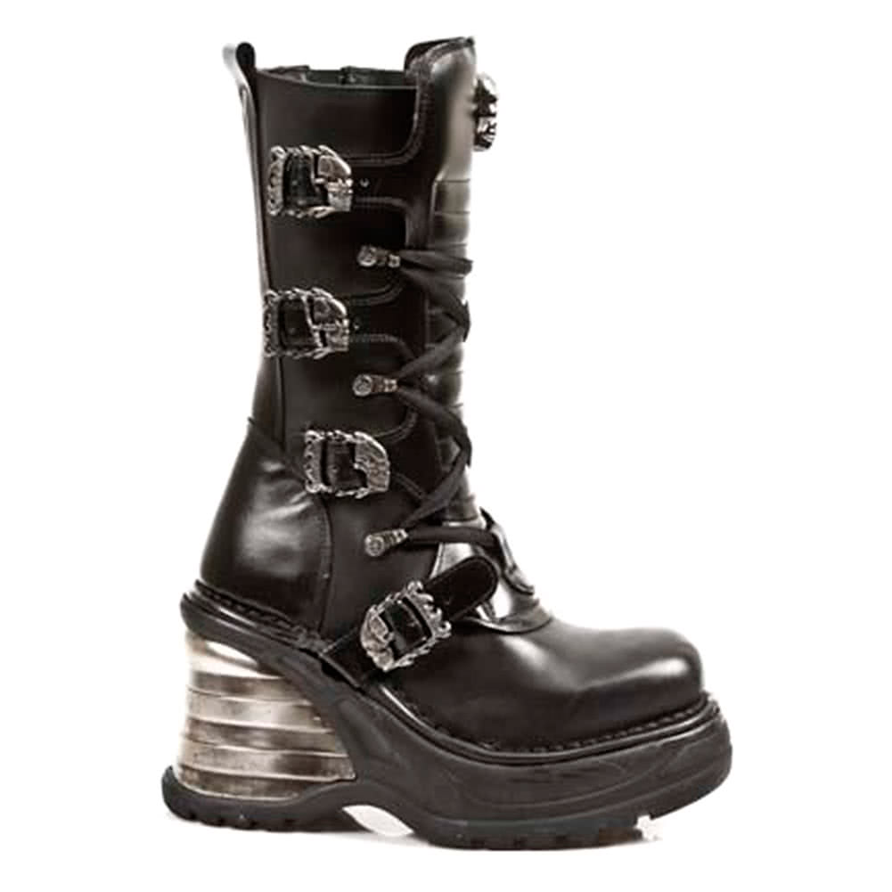 New Rock M.8374-S1 Platforma Boots (Black)