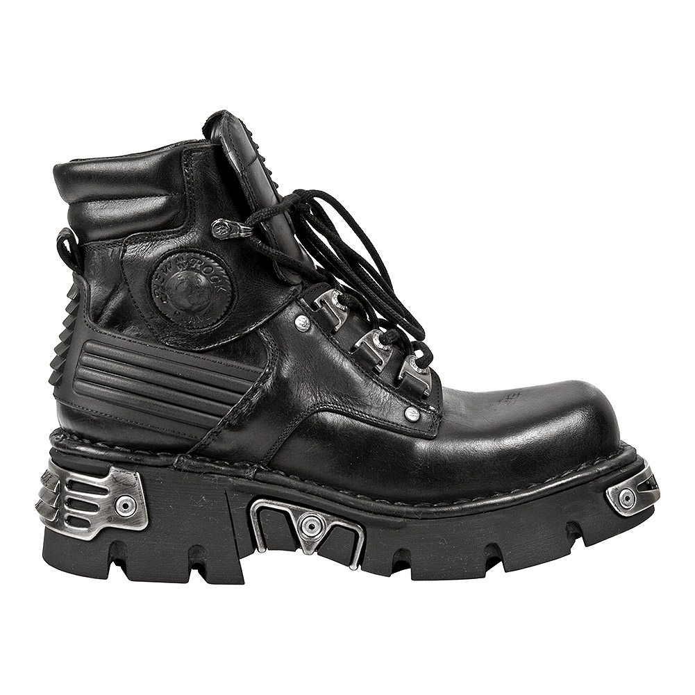 New Rock Style M.924-S1 Ankle Boots (Black)